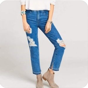 Show Me Your MuMu Brooklyn Distressed Jeans NWT